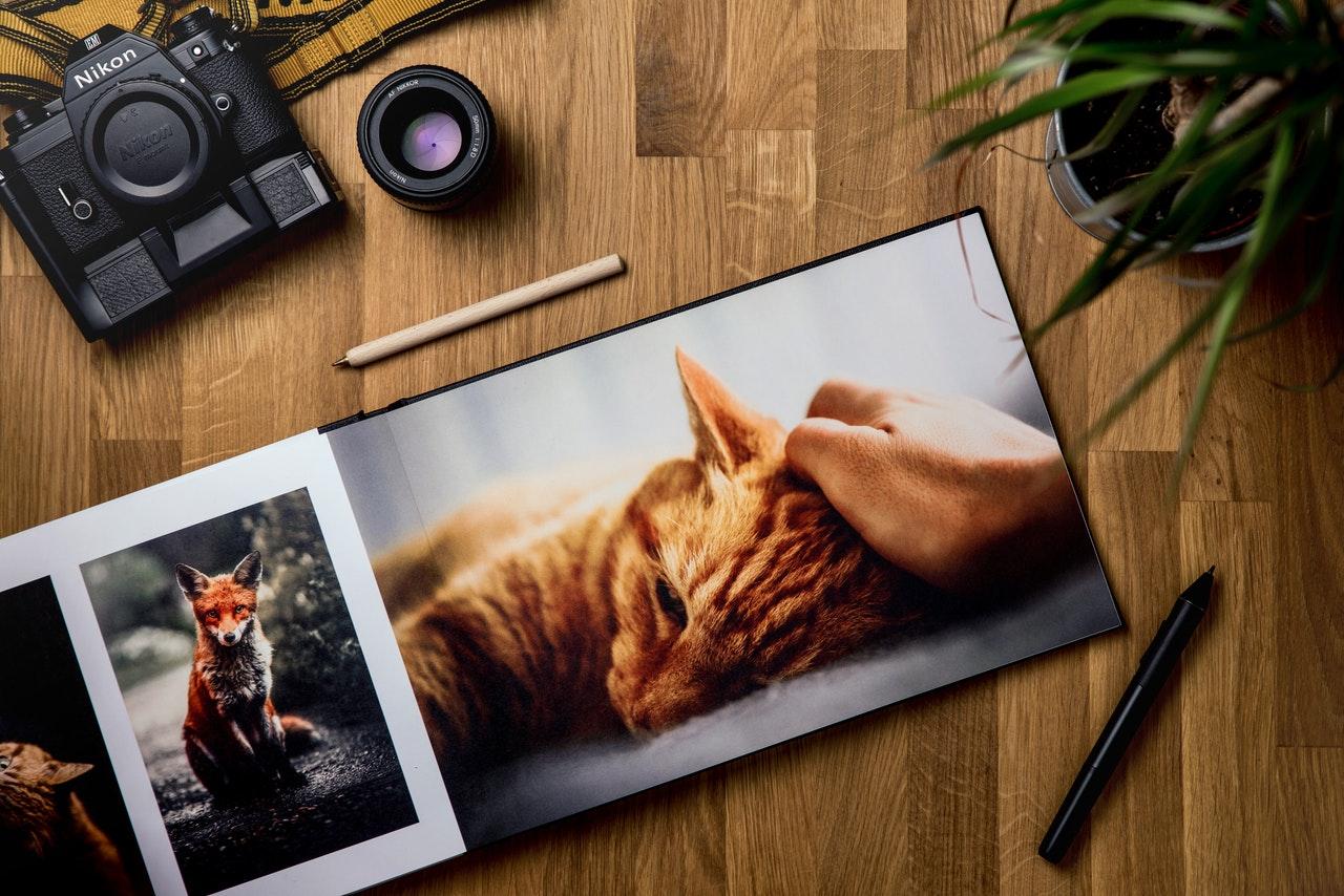 Fotoboek met camera